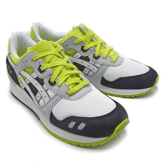 9acd7cc1a130 Details about  99.99 Asics Men Gel-Lyte III (white   black   lime)  H307N-0101