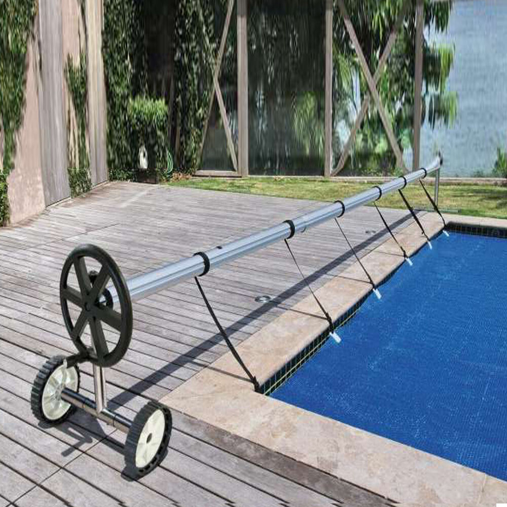 Deluxe In Ground Swimming Pool Solar Blanket Aluminum Cover Reel Up To 21 39 Wide Ebay