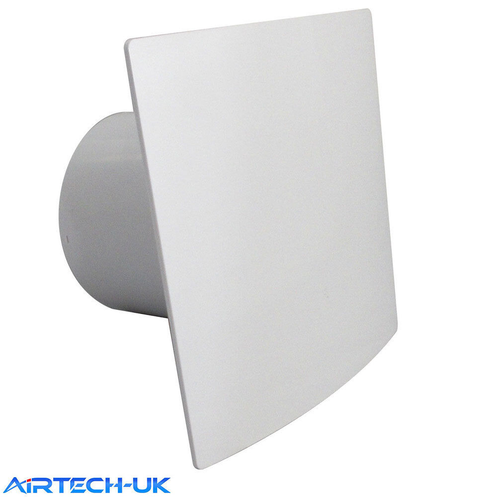 """Quiet Bathroom Light Pull Switch: Bathroom Extractor Fan 100mm / 4"""" With With Pull Cord"""
