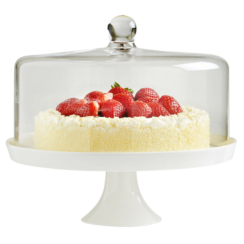 White Cake Stand With Lid