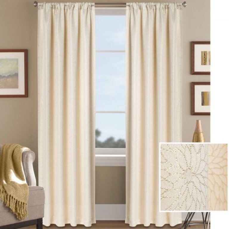 Better homes and gardens metallic floral shimmer jacquard Better homes and gardens curtains
