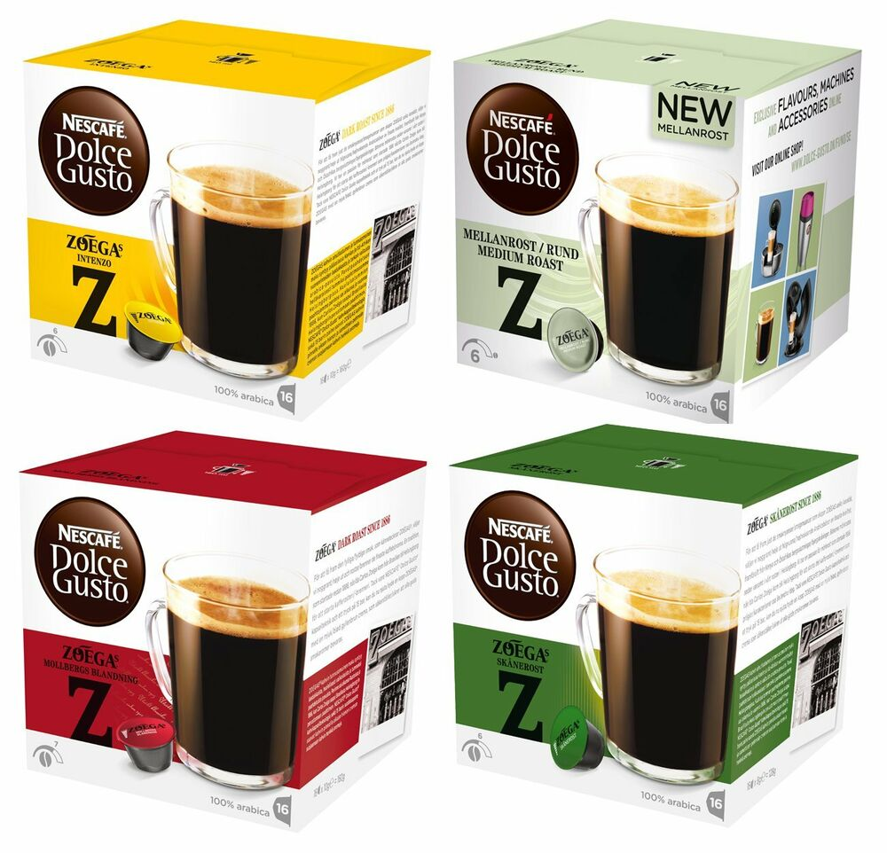 3 Boxes x Dolce Gusto Nescafe Coffee Capsules 16 Pods / Box All Flavours | eBay