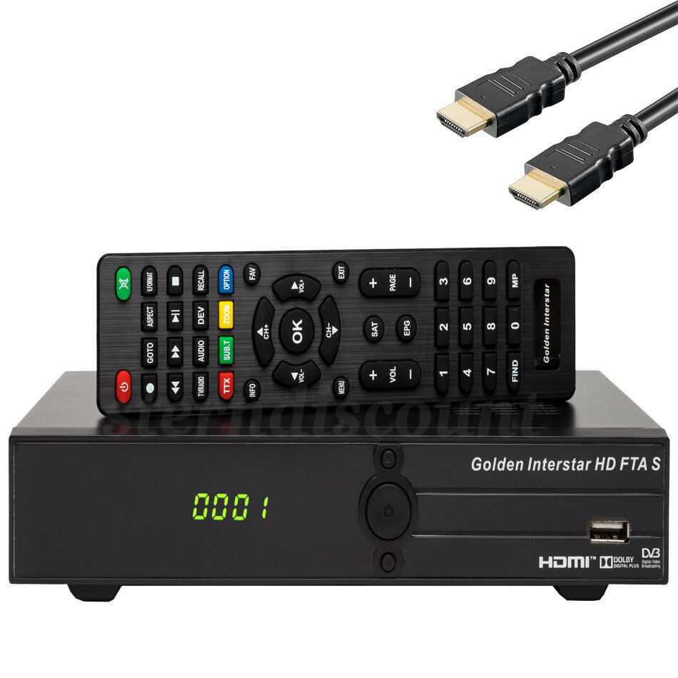 sat receiver hdtv fta s gi hdmi scart usb black dvb s2 1080p satellite ebay. Black Bedroom Furniture Sets. Home Design Ideas
