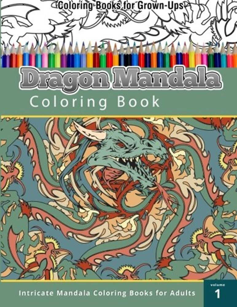 colouring books for adults ebay coloring books for adult kids dragon mandala patterns art