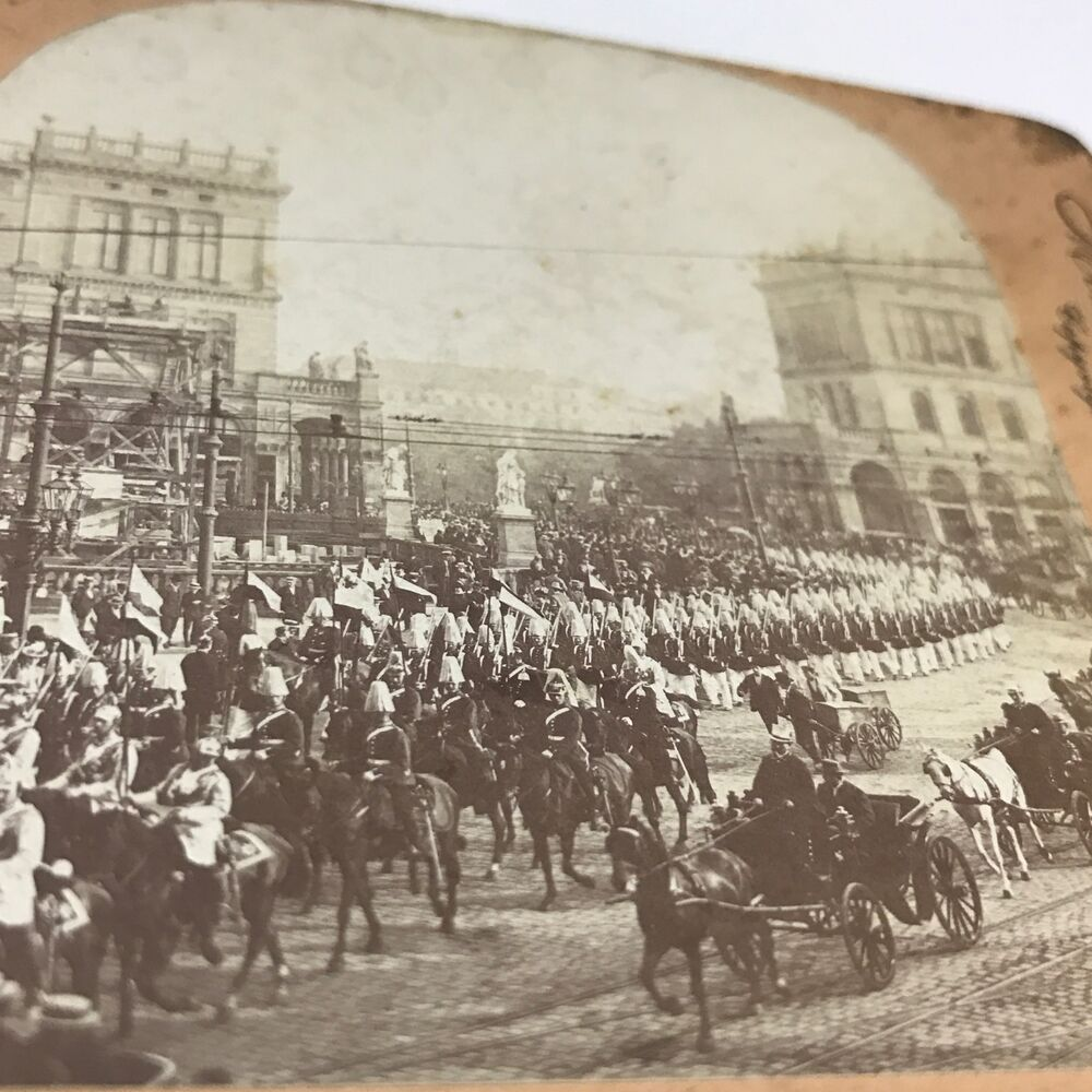 keystone view company stereoview empress body guard berlin germany parade ebay. Black Bedroom Furniture Sets. Home Design Ideas