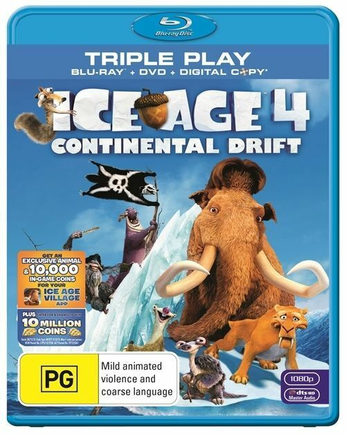 Ice Age 4 - Continental Drift (Blu-ray, 2012, 2-Disc Set ...