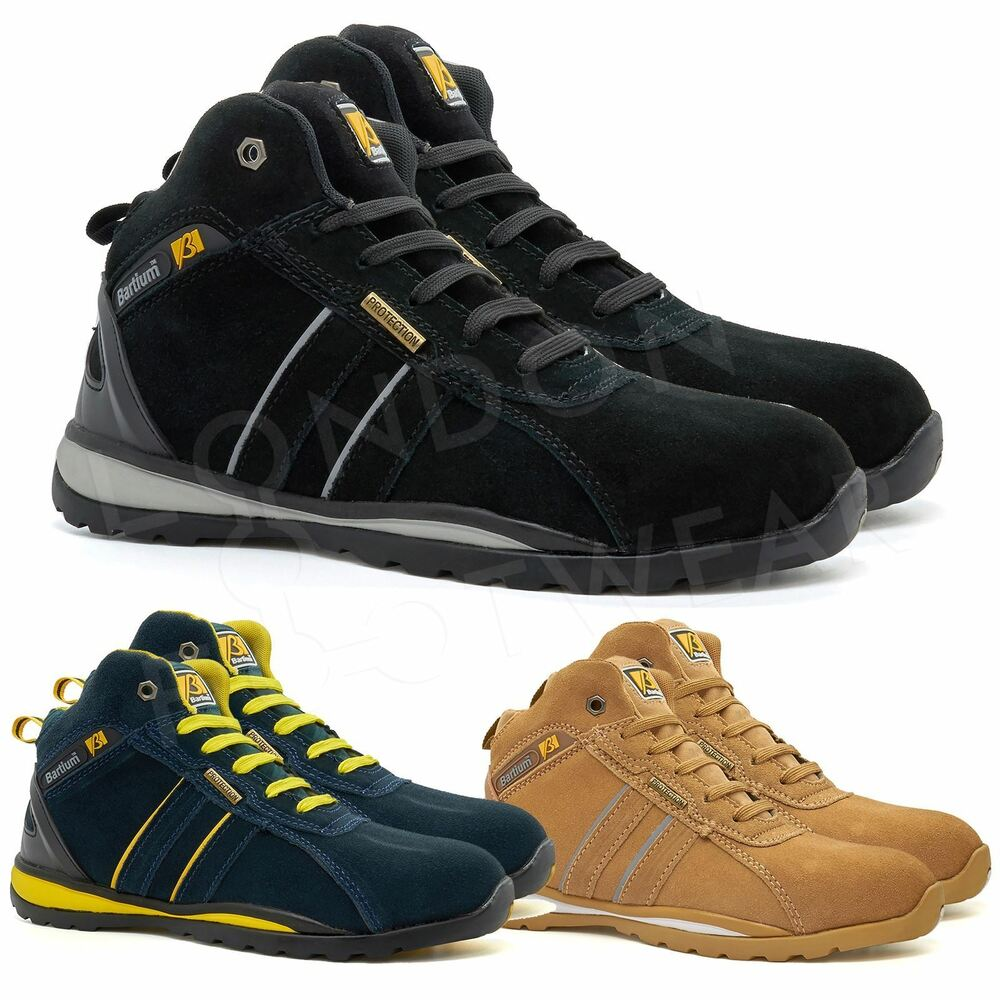 New Mens Safety Ankle Boots Trainers Steel Toe Cap Hiker ...