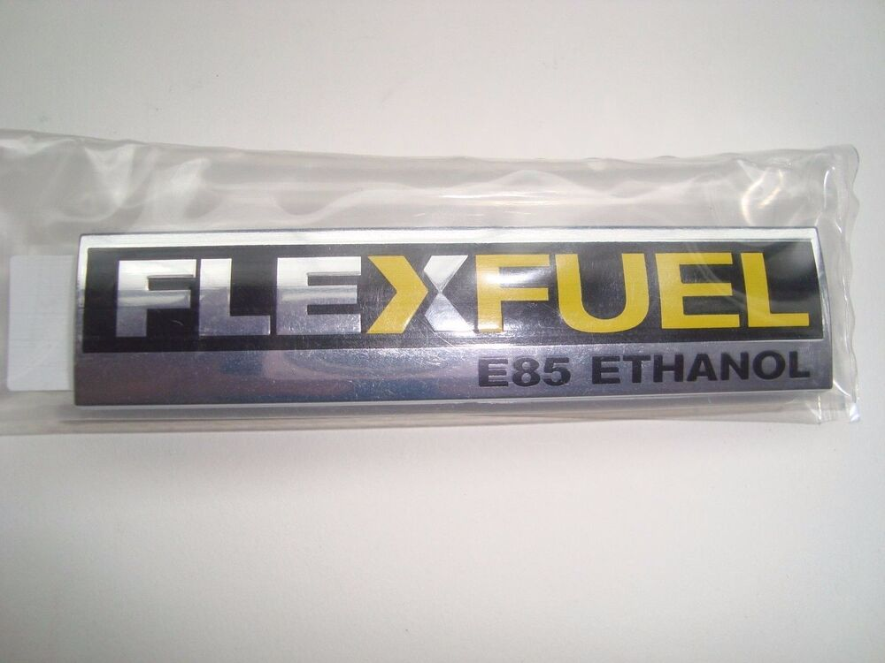 new flex fuel emblem logo gm 15910899 hhr silverado ethanol e85 corvette cruze ebay. Black Bedroom Furniture Sets. Home Design Ideas