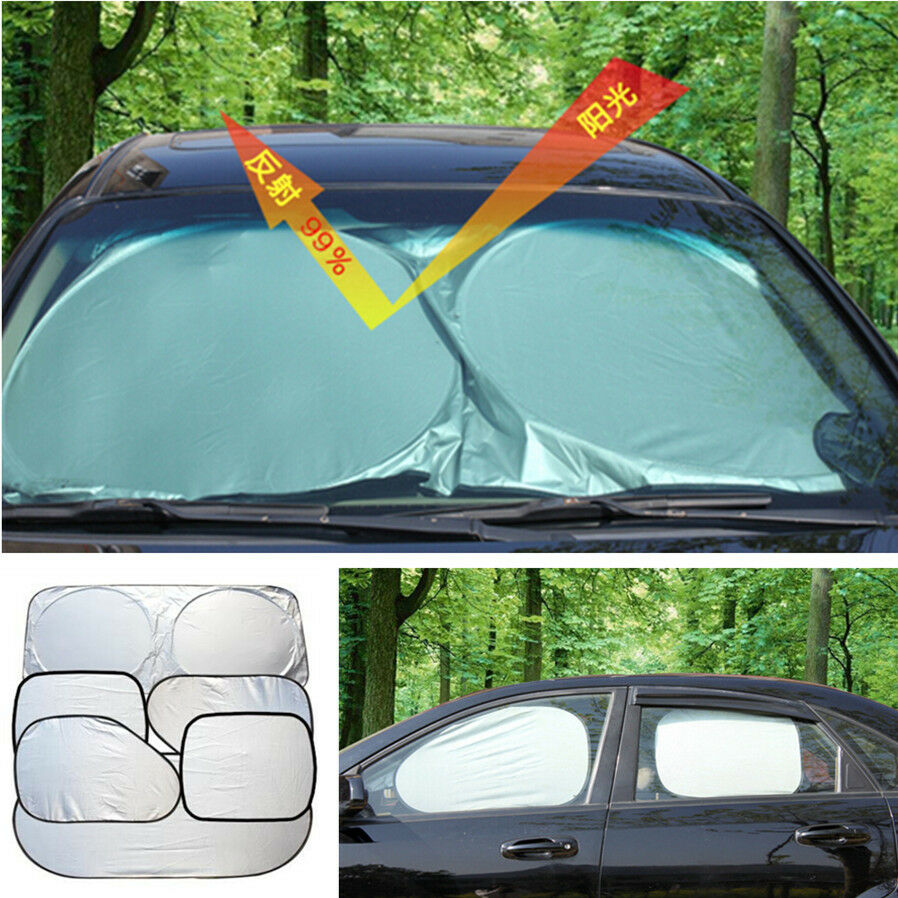 car windshield window sun shade visor heat block screen uv rays folding cover 6x ebay. Black Bedroom Furniture Sets. Home Design Ideas