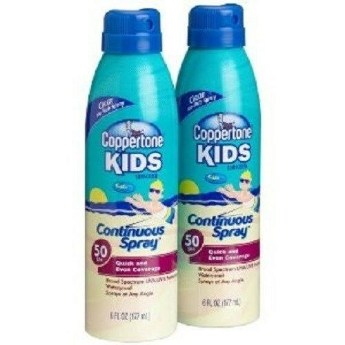 9ca625bfb30fb Details about Coppertone Kids Continuous Spray, SPF 50, Twinpack, 6-Ounce  Bottles (6 CANS)