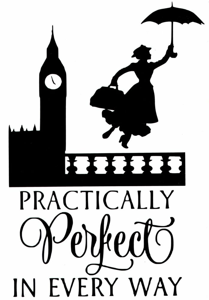 Cut Vinyl Wall Art Sticker Mary Poppins Practically