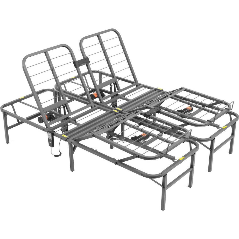 Steel King Size Split Adjustable Remote Electric Lift Bed Frame Foundation Base Ebay