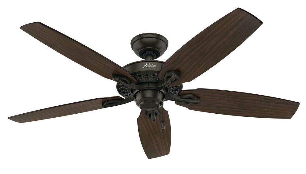 Hunter 52 Quot New Bronze Ceiling Fan With Walnut Or Mahogany