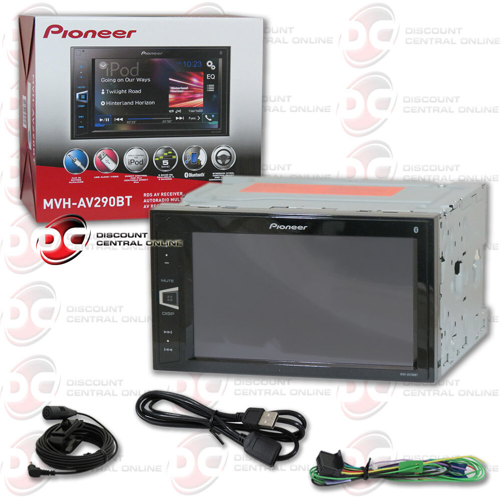 pioneer mvh av290bt car 2 din 6 2 touchscreen digital media bluetooth receiver ebay. Black Bedroom Furniture Sets. Home Design Ideas