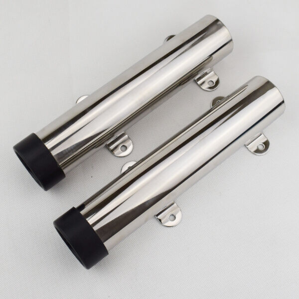 2pcs stainless steel rod holder flush mount fishing rod for Steel fishing rod