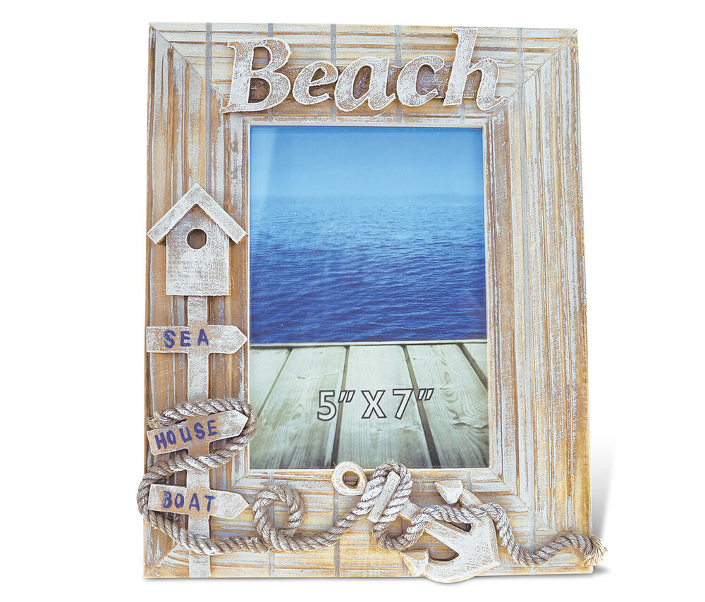 """Photo Frames For Home Decor: PuzzledBaja Beach Photo Frame 5""""x7"""" Handcrafted Wooden"""
