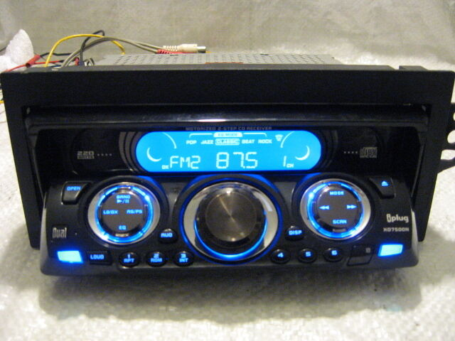 dual electronics xd7500 xd7500n cd player in dash receiver. Black Bedroom Furniture Sets. Home Design Ideas