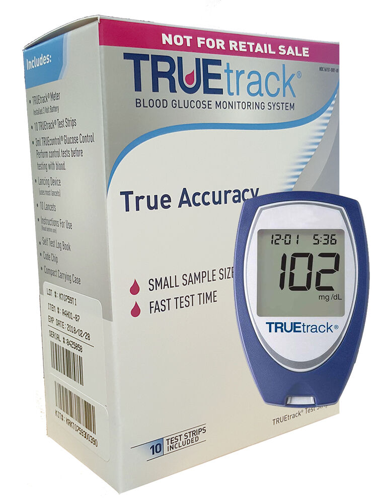 Truetrack Blood Glucose Monitoring System 1 Meter