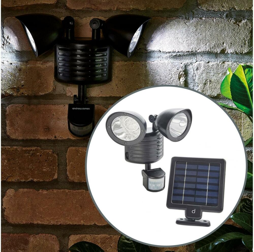andrew james 22 led solar security light pir motion sensor. Black Bedroom Furniture Sets. Home Design Ideas