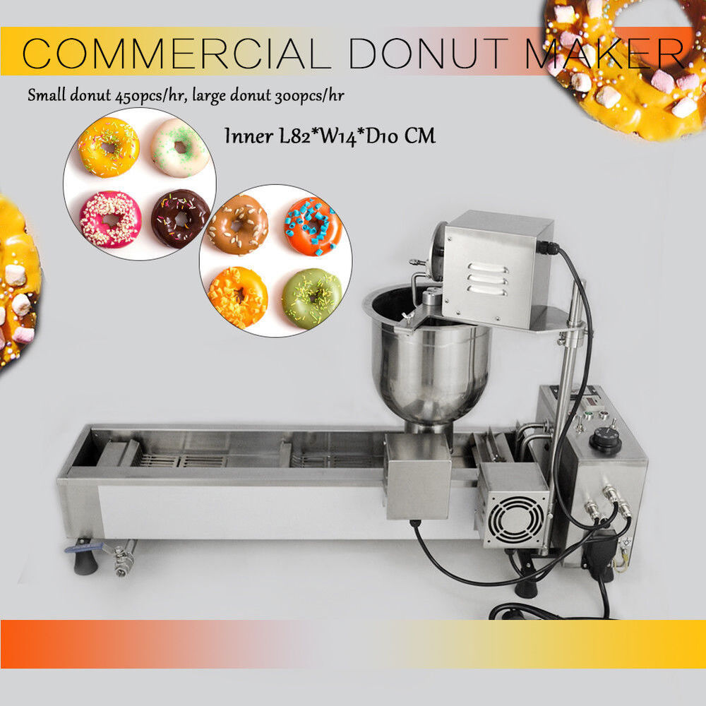 kommerziell automatisch donutmaker 220v donutmaschine wide oil tank 3 sets mold ebay. Black Bedroom Furniture Sets. Home Design Ideas