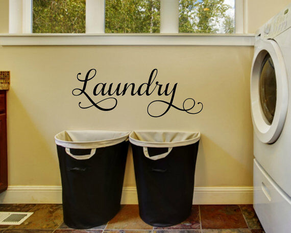 Word Wall Art Vinyl Lettering Home Decor ~ Laundry words lettering vinyl wall decal quote sticker