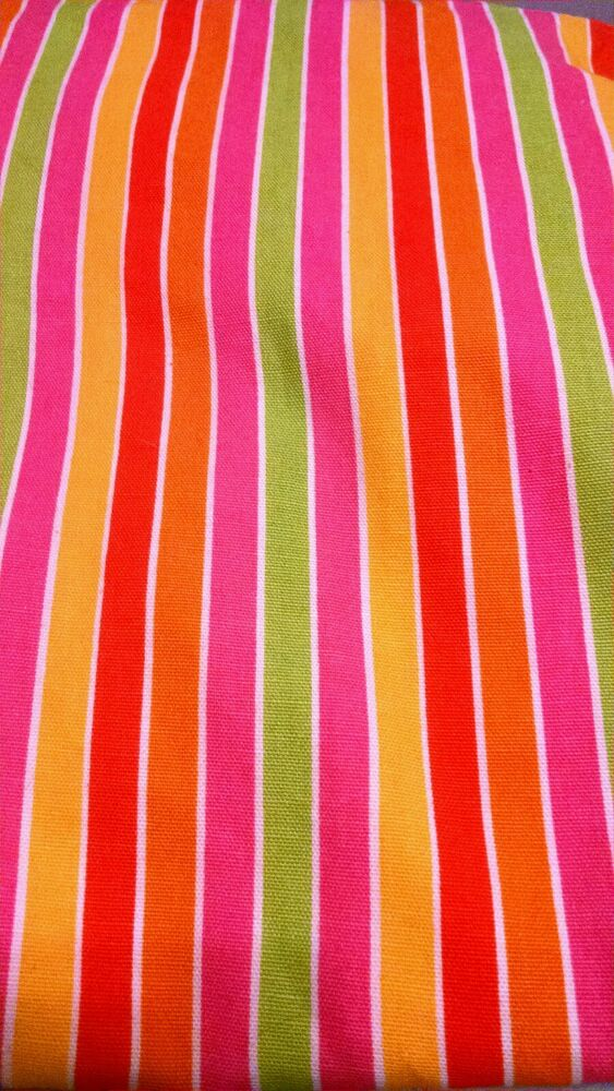 Bright Multi Color Striped Curtains Matching Valance 79 1 4 Long 58 Wide Ebay