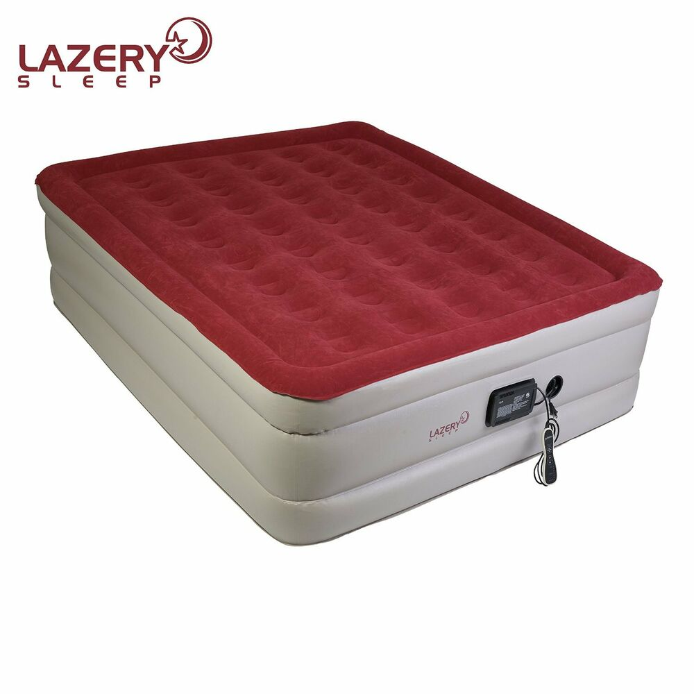 lazery sleep inflatable queen air mattress airbed with. Black Bedroom Furniture Sets. Home Design Ideas