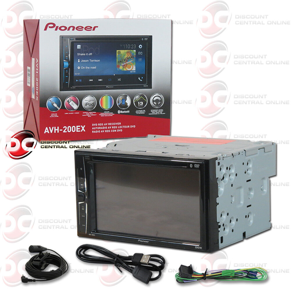 "NEW PIONEER CAR DOUBLE DIN 6.2"" TOUCHSCREEN USB DVD CD"
