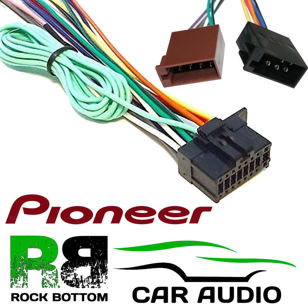 s l1000 pioneer sph da100 car radio stereo 16 pin power wiring harness sph-da100 wiring harness at creativeand.co