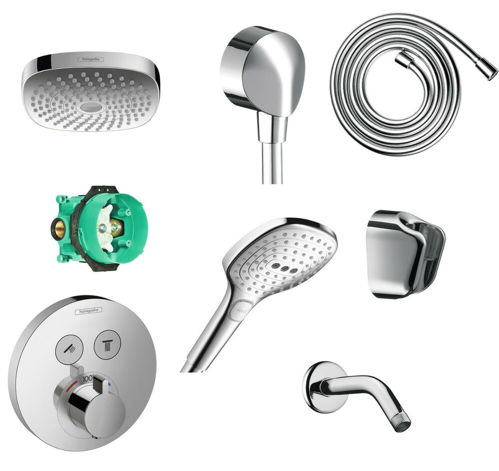 hansgrohe croma select e 180 shower combo set in chrome ebay. Black Bedroom Furniture Sets. Home Design Ideas