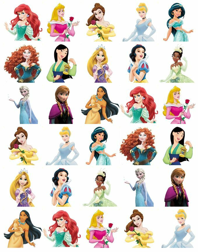 30 x Disney Princess Half Body Stand Up Edible Cupcake ...