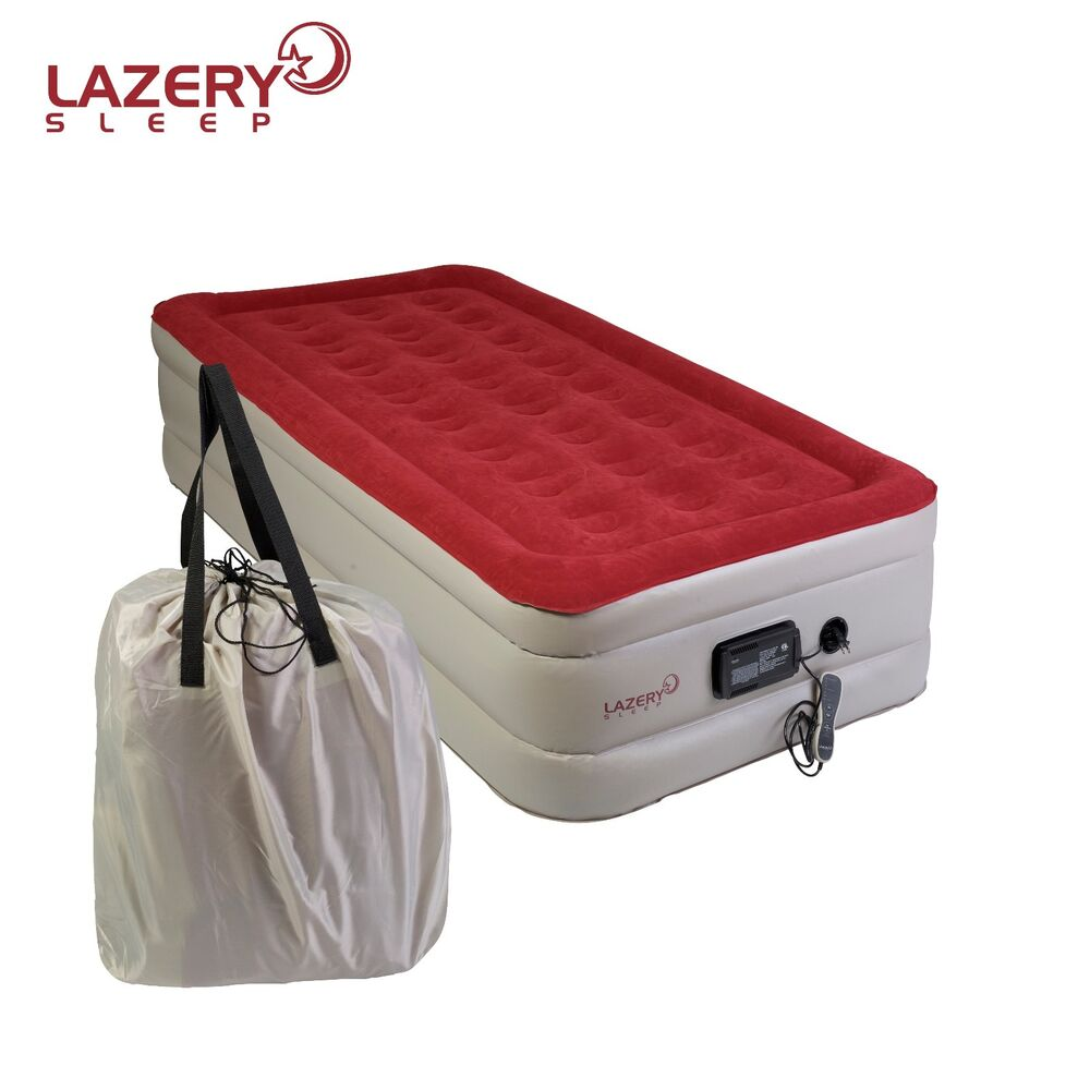 Lazery Sleep inflatable TWIN Air Mattress / Airbed with ...