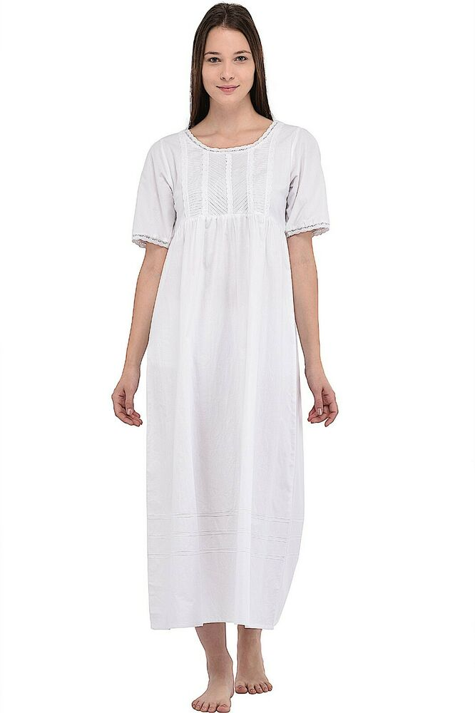 7cf835dcc2 Ladies Classic Short Sleeve Lace Nightdress