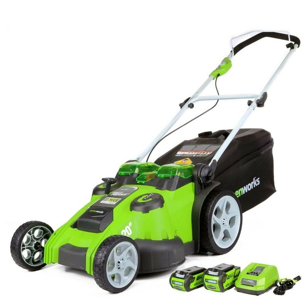 Greenworks G Max 40v Twin Force 20 Inch Cordless Lawn
