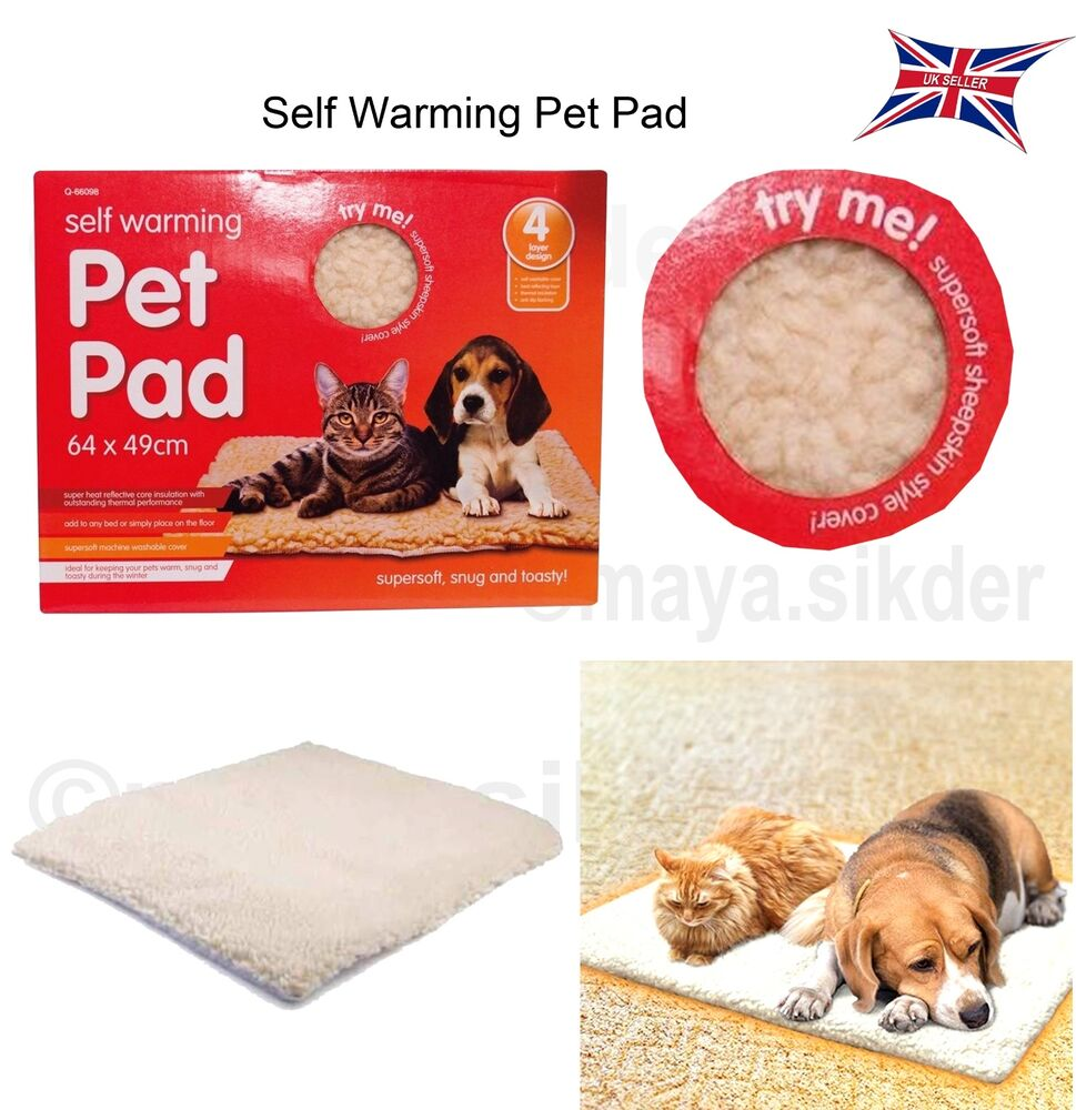 Self Heating Thermal Dog Cat Puppy Pad Bed Rug Washable