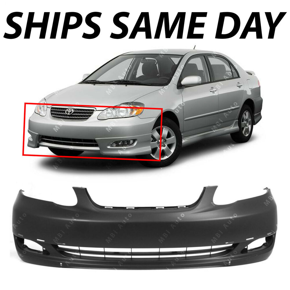 New Primered Front Bumper Cover For 2005 2006 2007 2008 Toyota Corolla S Xrs Ebay