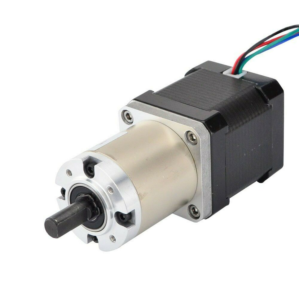 New 100 1 planetary gearbox nema 17 stepper motor low for Stepper motor gear box