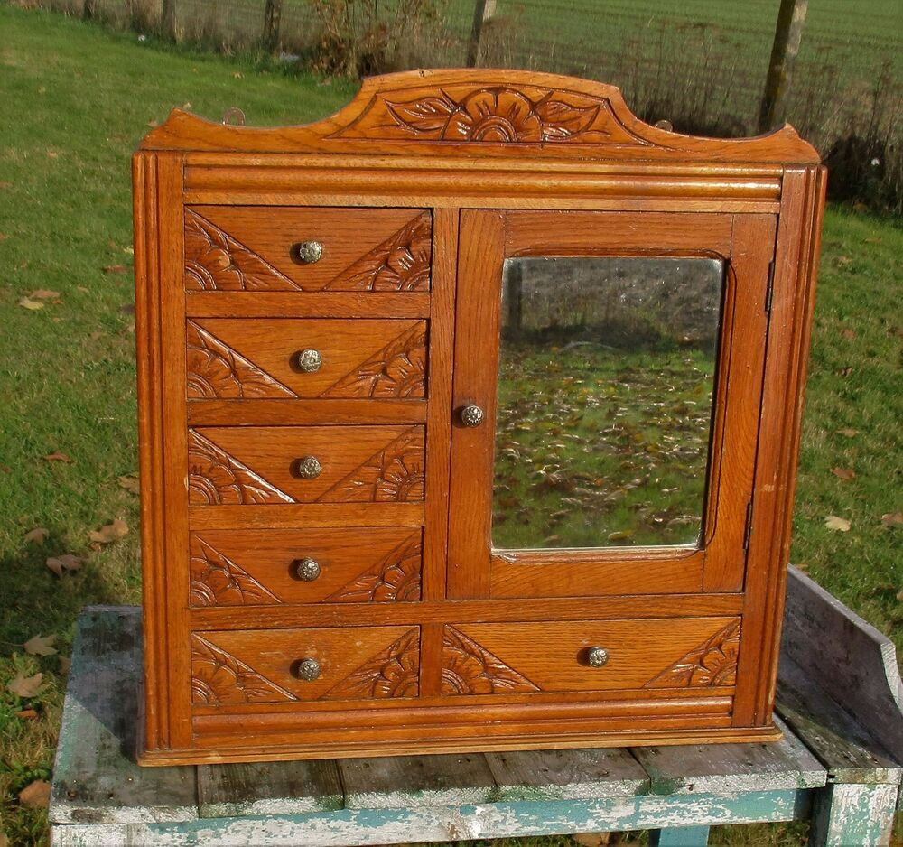 Vintage Gorgeous Kitchen Medicine Bathroom Cabinet Chest
