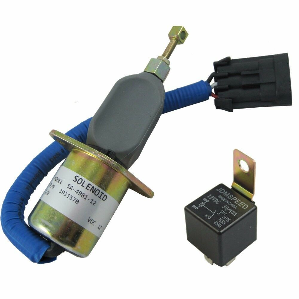 Fuel Shut Off Solenoid 5016244aa With Relay For 94