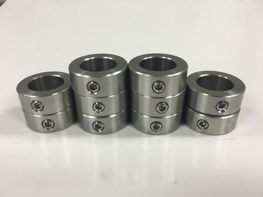 Pcs quot inch stainless steel shaft collar set