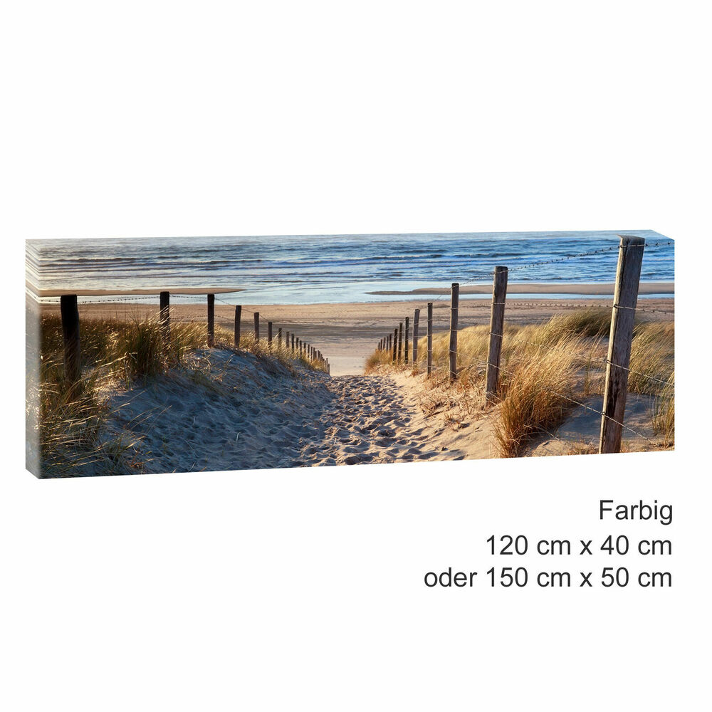 leinwand kunstdruck bilder wandbild landschaft nordsee strand meer 544 ebay. Black Bedroom Furniture Sets. Home Design Ideas