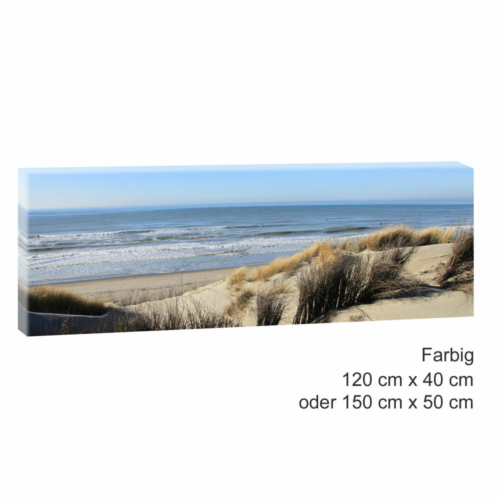 leinwand kunstdruck bilder wandbild panorama landschaft nordsee strand meer 469 ebay. Black Bedroom Furniture Sets. Home Design Ideas