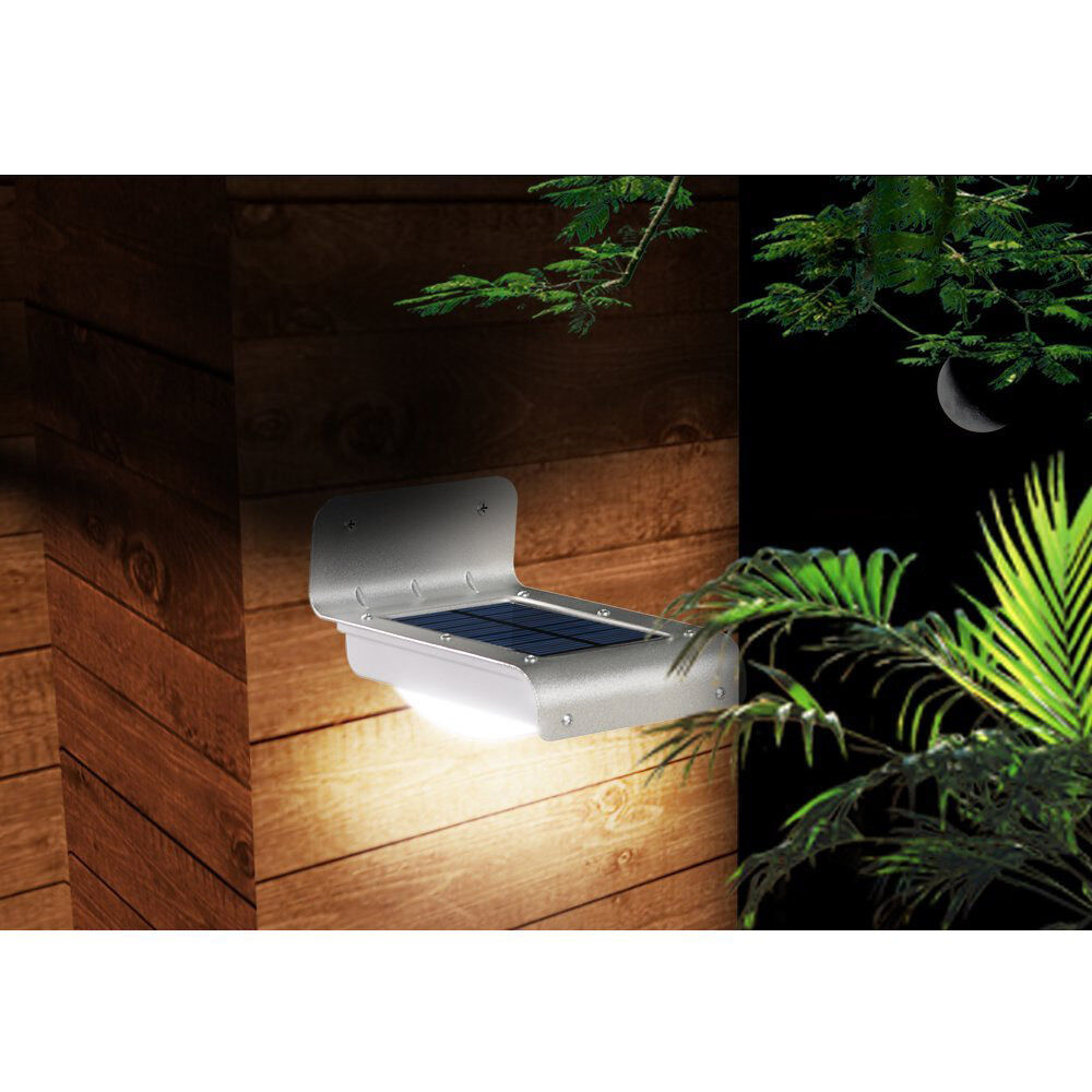 Solar Lights Roof: PIR LED Bright Solar Powered Fence Roof Gutter Door Wall