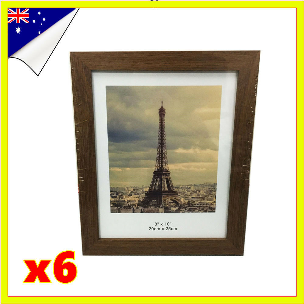 6pcs 8 x10 bulk wooden timber document certificate photo picture frame sets ebay. Black Bedroom Furniture Sets. Home Design Ideas