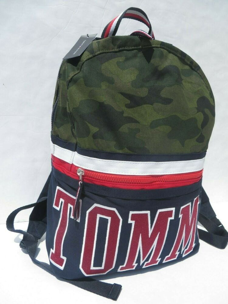 Tommy Hilfiger Duffle Gym Bag Large Packable Lightweight Luggage Bags Blue NEW