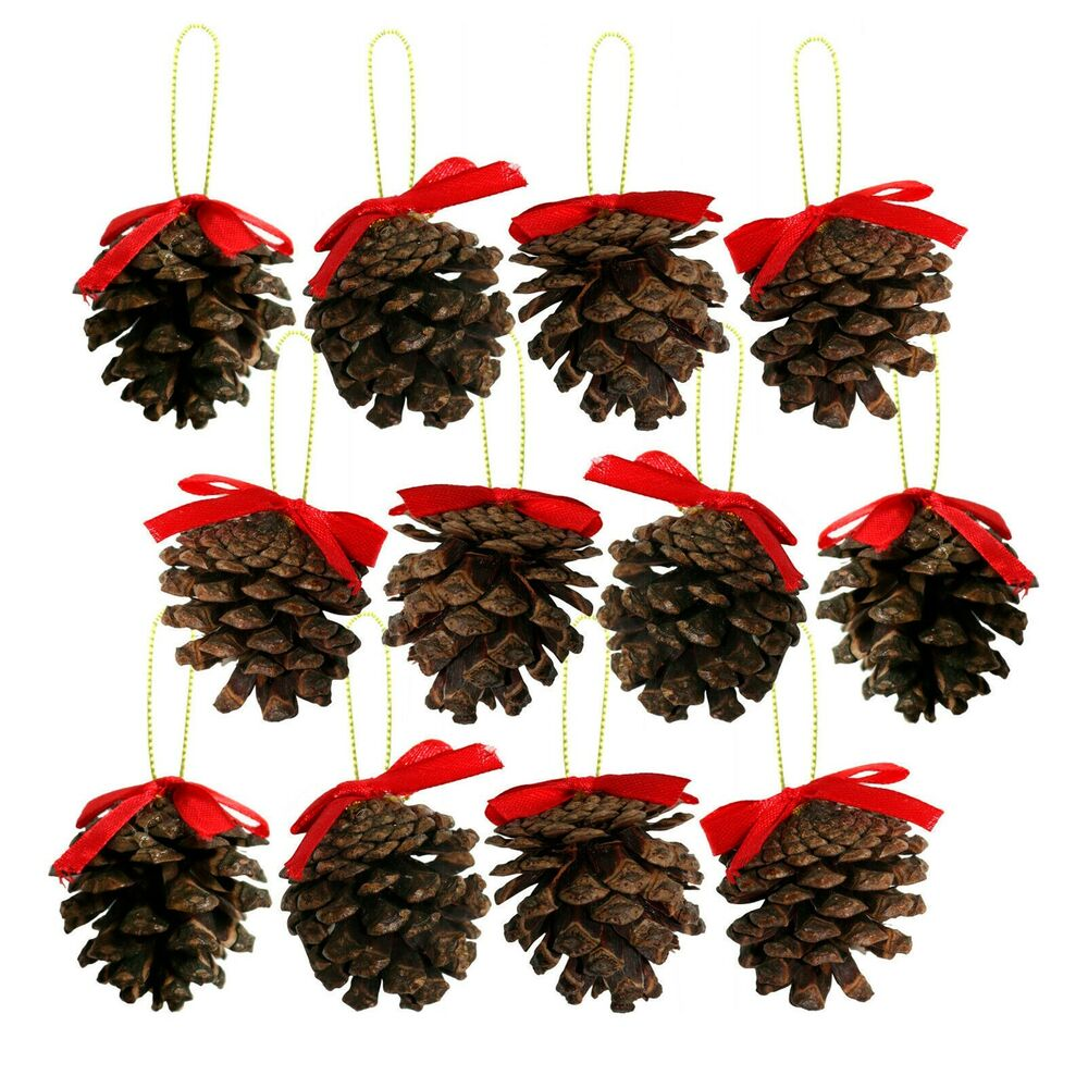 Real genuine pine cone christmas tree hanging pendant for Pine cone tree decorations
