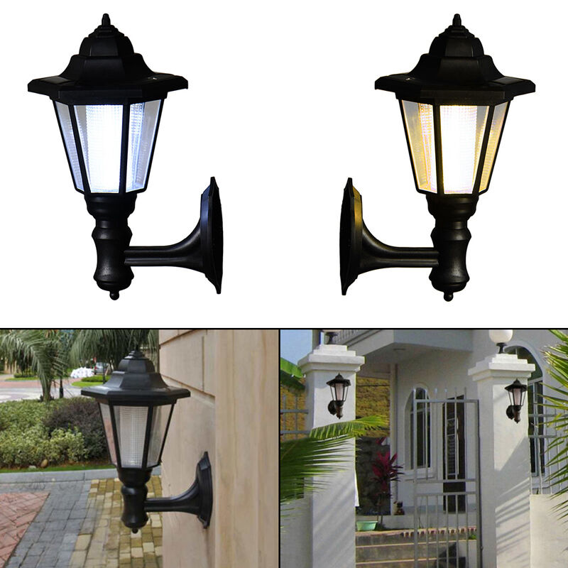 Solar Power Led Path Way Wall Landscape Mount Garden Fence