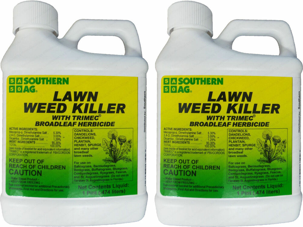 Southern Ag Lawn Weed Killer W Trimec 2 4 D Dicamba Mecoprop 1 Pint 2 Pack Ebay