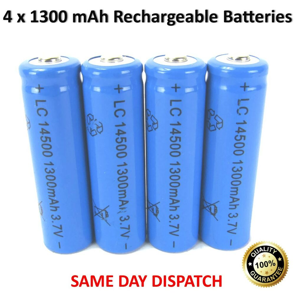 4x rechargeable 1300 mah batteries lc14500 3 7v powerful li ion vape pen battery ebay. Black Bedroom Furniture Sets. Home Design Ideas