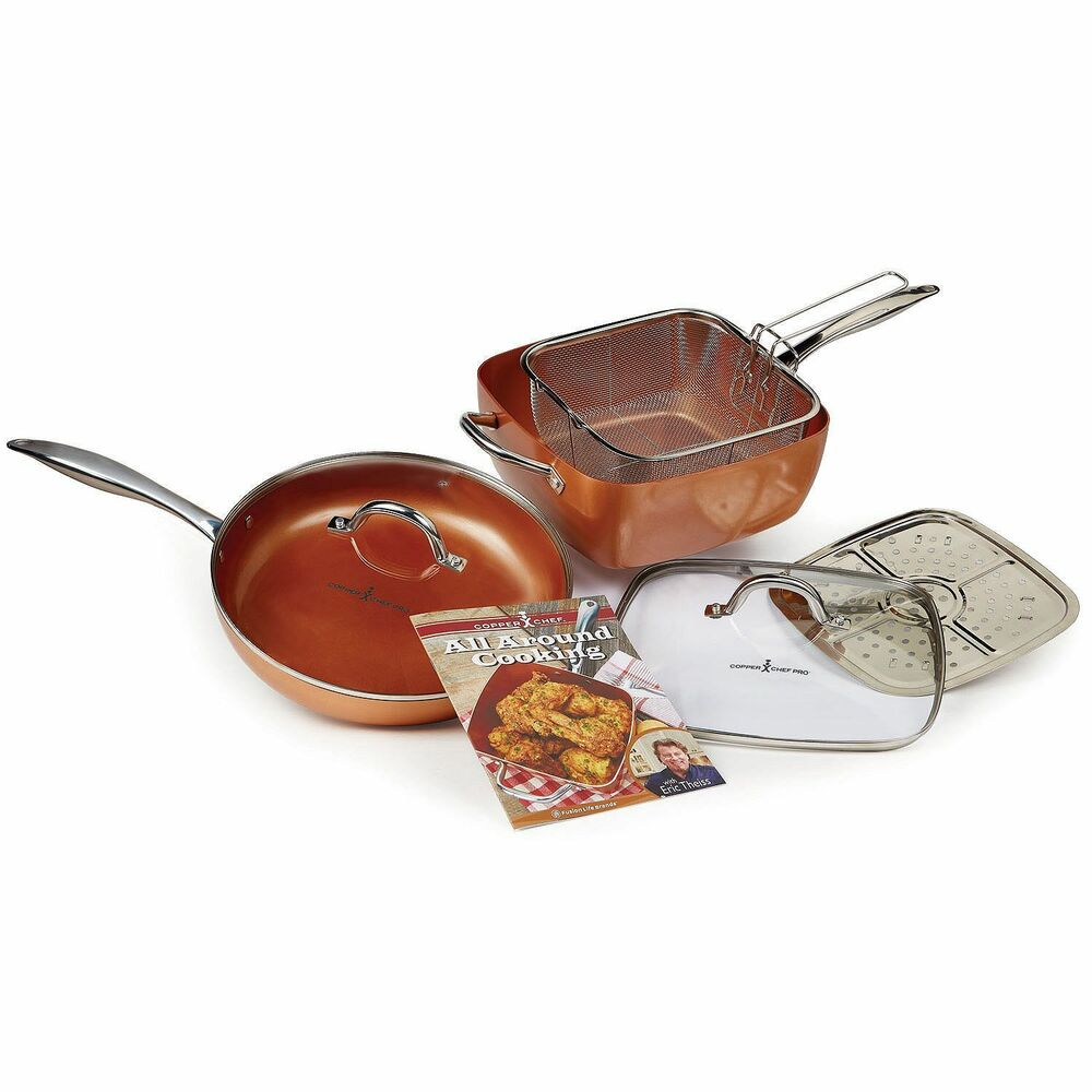 Copper Chef Pro 7 Pc Xl 11 Inch Amp 12 Inch Pan Cookware Set